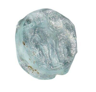 Roman glass intaglio seal - God Mercury  1-2 century AD 7