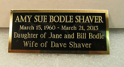 Engraved Nameplate Custom Plaques  Display Cases *blackbrass Not Aluminum* 11