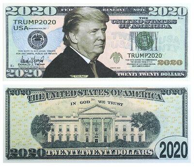 100 BILLS - Donald Trump fake money 2020 Dollar Bills 2