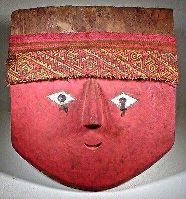 Pre-Columbian Chancay Mask & Headband Ex: Sotheby's 2