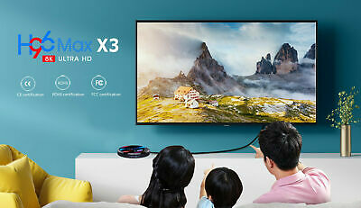 2020 H96 MAX X3 4GB+32GB Android 9.0 TV Box Smart Amlogic S905X3 Dual WIFI BT UK 3