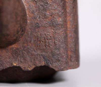 Japanese 19 C Cast Iron Tetsubin Teapot Signed Lot 456