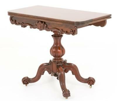 Victorian Mahogany Card Table - Games Tables 1860 2