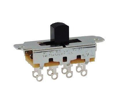 Switchcraft Slide Switch DPDT or DPTT (Mustang, Duosonic, Jazzmaster/Jaguar) 2