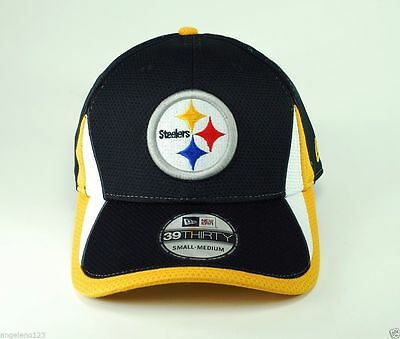 sale retailer 1846a 38397 ... NEW ERA NFL Pittsburgh Steelers Hat Training 39thirty Men Cap Black  Flex Fit 2