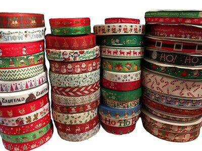 Christmas Ribbon Huge Selection! Happy Xmas! Sold by the meter 5