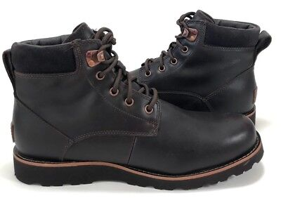 c942281c5e3 UGG SETON TL Mens Waterproof Leather, Lined Soft Wool, Brown Boots 11,12,13