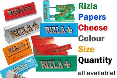 RIZLA BLUE KING SIZE SLIM GENUINE CIGARETTE SMOKING ROLLING PAPERS ORIGINAL rzlP 2