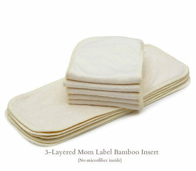 10/Pack KaWaii Baby Cloth Diaper Inserts/Liners (Bamboo, Charcoal, Microfiber) 8