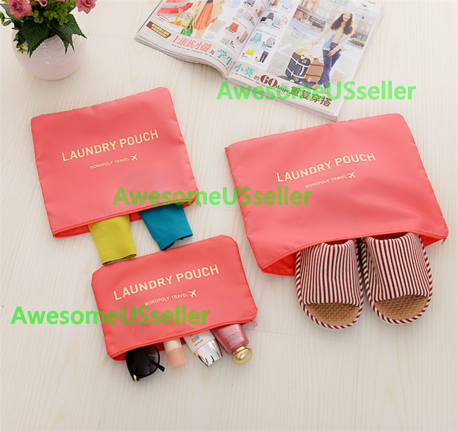 Bags 6PCS Waterproof Clothes Travel Storage Packing Cube Luggage Organizer Pouch 2