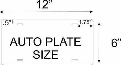 50 States Any Text Personalize Vehicle Car Auto OR Motorcycle License Plate Tag 2