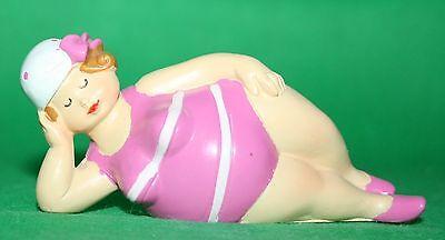 Dekoration Figur Bade Urlauberin 8 cm h Schwimmreif Eis Polyresin