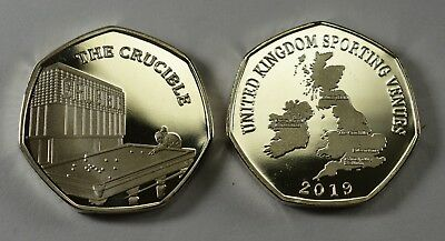 Pair of THE CRUCIBLE Commemoratives. 24ct Gold. Silver. Albums/Filler 2019 9