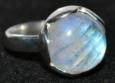 Mystic Moonstone Natural Gemstone Rings 925 Sterling Silver Ring All Sizes L - Z 7