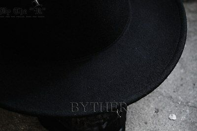3 of 12 ByTheR Men s Solid Classic Beige Soft 100% Woolen Felt Folded Top Fedora  Hat 6a80e0259626