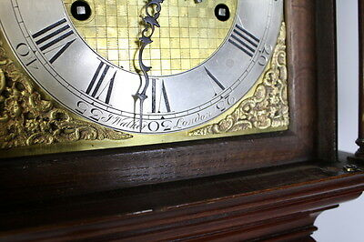 A Mahogany Grandmother Clock By John Walker London 9