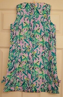 Lilly Pulitzer NWT Little Lilly Classic Shift Lilac Verbena Its Impawsible $58
