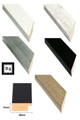 Bilderrahmen London Holz MDF Foto Poster Rahmen Farbe Größe Wählbar Schmal 10