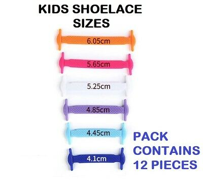 Silicone Shoelaces Elastic Shoe Lace Easy No Tie Kids Adult Lazy Trainers Rubber 5