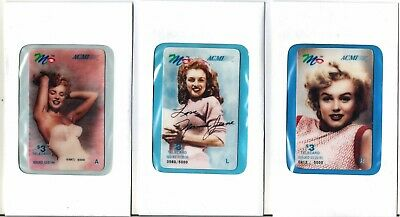 (7) Marilyn Monroe Phone Cards – mint – 1990's 2