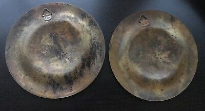 Pair of Vintage Copper Brass Silver Egyptian Plates - wall hangings 10
