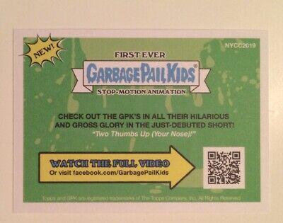 NYCC 2019 Topps Garbage Pail Kids Promo Trading Card Collectible Pair 3