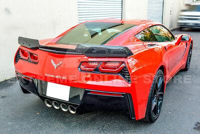 For 14 19 Corvette C7 Z06 Stage 2 Painted Rear Base Spoiler Carbon Fiber Winglet 449 99 Picclick