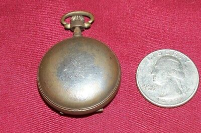 Old Tiny Pocketwatch Case Pocket Watch Housing Vintage Antique Small Little Mini 2