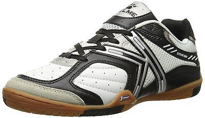 ... Kelme Star 360 Michelin Mens Leather Indoor Soccer Shoes White   Black 2 30d225ec8