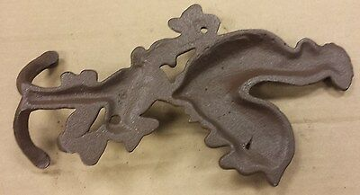 HEAVY CAST IRON COAT DUAL HOOK ROOSTER KITCHEN PANTRY MUDROOM up to 3 available