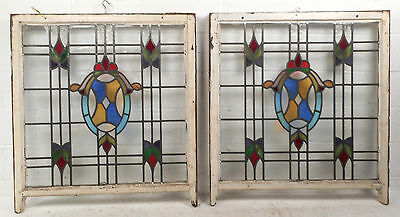 Vintage Stained Glass Window Panel (3035)NJ 2