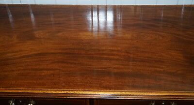 Stunning Victorian 1880 Edward & Roberts Satinwood & Walnut Partner Desk Rare!!! 5
