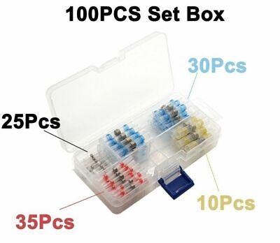 100PCS Solder Sleeve Heat Shrink Butt Waterproof 26-10 AWG Wire Splice Connector 7