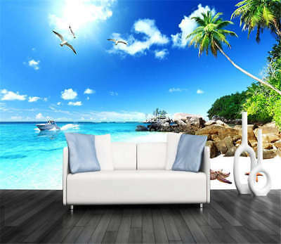 Broad Coherent Coast 3D Full Wall Mural Photo Wallpaper Printing Home Kids Decor
