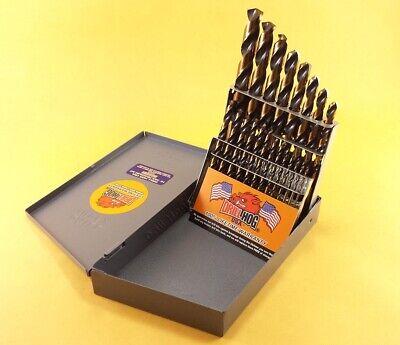 Drill Hog® USA 21 Pc Drill Bit Set Metal Hi-Molybdenum M7 MOLY Lifetime Warranty 3