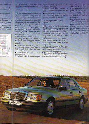 1985 MERCEDES BENZ W124 200 230E 260E /& 300E German Brochure in English