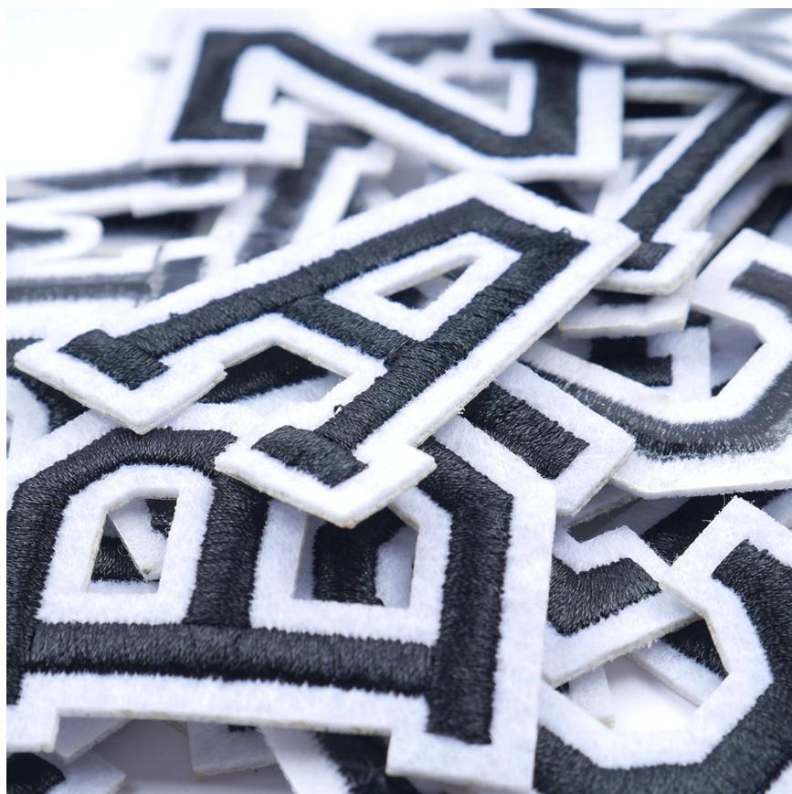 Patch Toppa Alfabeto Lettere Alphabet Personalizzate Ricamata Termoadesiva 5cm 5