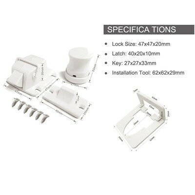 Safety concealed Magnetic Cabinet Locks-No Drilling-2 Locks+1 key 2
