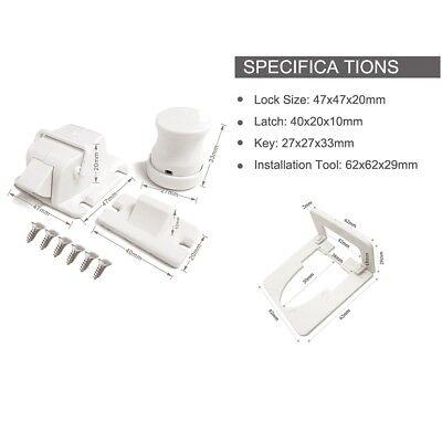 Safety concealed Magnetic Cabinet Locks-No Drilling-8 Locks+2 key 2