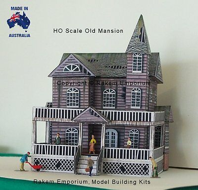 HO Scale Mansion House Old Creepy Model Railway Building Kit - REOM1 2