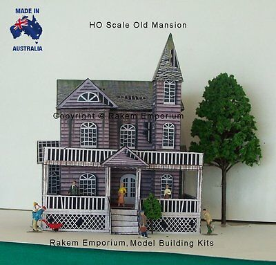 HO Scale Mansion House Old Creepy Model Railway Building Kit - REOM1 3
