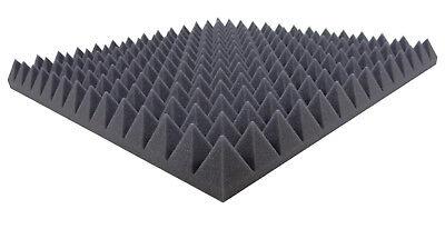 Noppenschaumstoff,Akustik Schaumstoff Pyramiden Akustik Akustikschaumstoff 49 x 49 x 5 cm, Gelb D/ämmung