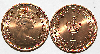 1971 to 1983 Elizabeth II DECIMAL HALF PENNY CHOOSE YOUR DATE 2