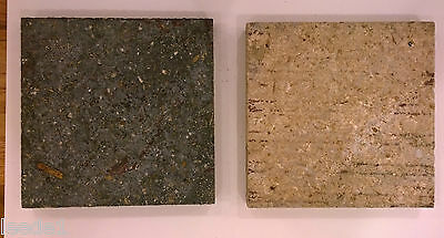 """Hundred 8-1/2"""" Square Simulated Travertine Vintage Architectural Salvage 3"""