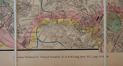 Davies's Map of London and its Environs, 1910, boxed 3