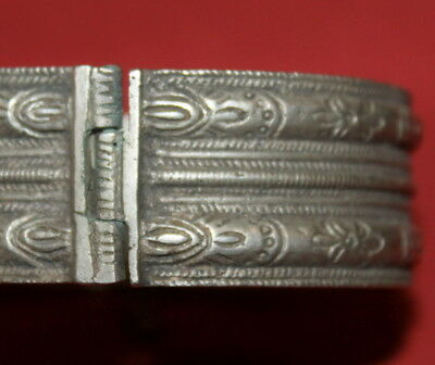 Antique Medieval Greek Handcrafted Engraved Silver Folk Bracelet