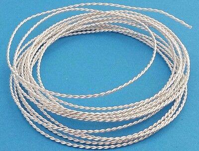 SILBERDRAHT 925 GEKORDELT Draht Sterling Silber Ringschiene 1,5 mm ...
