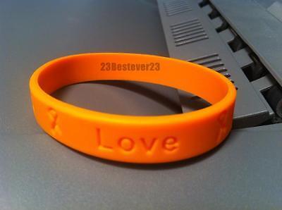 2 Orange Ms Multiple Sclerosis Awareness Silicone Bracelets