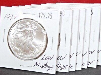 1997 Silver American Eagle BU Coin 1 oz $1 Dollar US Mint Uncirculated Brilliant 4