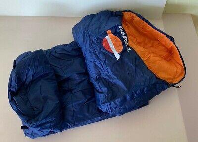 Saco De Dormir Repsol Cremallera Derecha Azul Y Naranja Nuevo 2